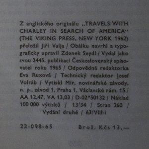antikvární kniha Toulky s Charleym za poznáním Ameriky, 1965