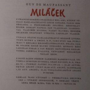 antikvární kniha Miláček, 1959