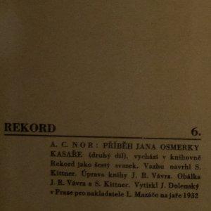 antikvární kniha Příběh Jana Osmerky, kasaře. I. - II. díl (2 svazky), 1932