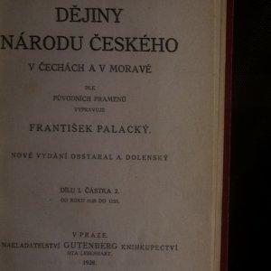antikvární kniha Dějiny národu českého v Čechách a na Moravě. I.-IV. díl (4 svazky), 1928
