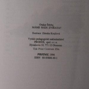 antikvární kniha Máme rádi zvířata?, 1996
