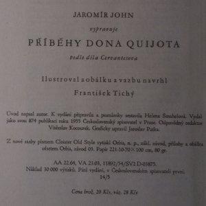 antikvární kniha Příběhy Dona Quijota, 1955