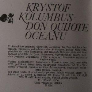 antikvární kniha Kryštof Kolumbus. Don Quijote oceánu, 1980