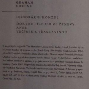 antikvární kniha Honorární konzul. Doktor Fischer ze Ženevy aneb Večírek s třeskavinou, 1987