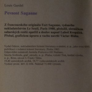 antikvární kniha Pevnost Saganne, 1985