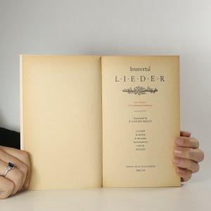 antikvární kniha Immortal Lieder. 800 Years of German Poetry, 1962