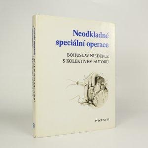 náhled knihy - Neodkladné speciální operace