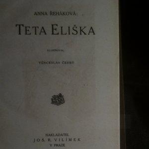 antikvární kniha Teta Eliška, neuveden