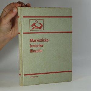 náhled knihy - Marxisticko-leninská filozofie