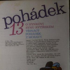 antikvární kniha O Hynkovi, synu rytířském : 13 pohádek z Moravy, 1986