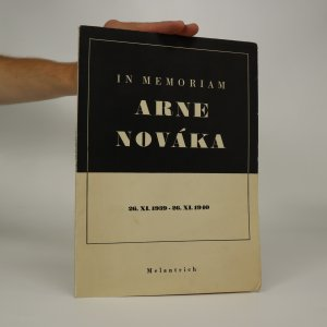 náhled knihy - In memoriam Arne Nováka
