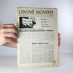 náhled knihy - Lidové noviny. roč. 2. číslo 7-8. léto 1989.