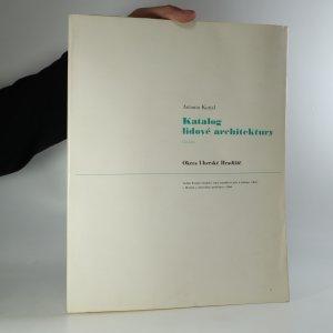 náhled knihy - Katalog lidové architektury V. Okres Uherské Hradiště