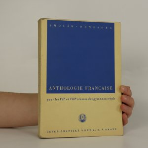 náhled knihy - Anthologie francaise pour les VII. et VIII. classes des gymnases réals