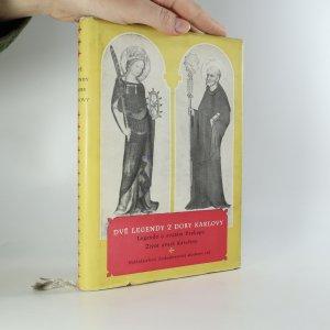 náhled knihy - Dvě legendy z doby Karlovy