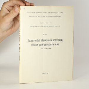 náhled knihy - Rozrušování stavebních konstrukcí účinky povětrnostních vlivů