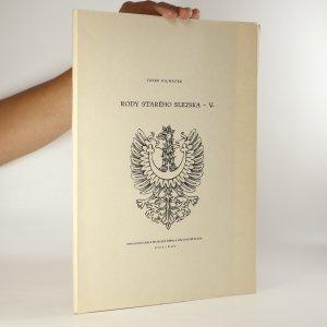 náhled knihy - Rody starého Slezska. V. díl