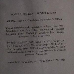 antikvární kniha Horké dny, 1953