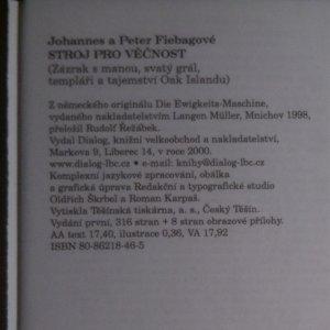 antikvární kniha Stroj pro věčnost, 2000