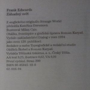 antikvární kniha Záhadný svět, 1994