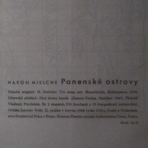 antikvární kniha Panenské ostrovy, 1944