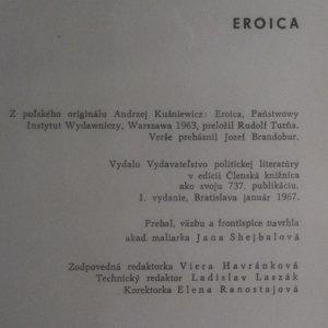 antikvární kniha Eroica, 1967