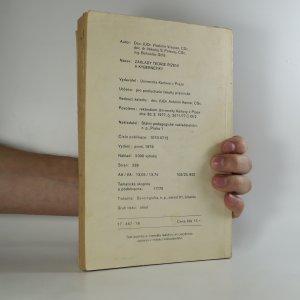 antikvární kniha Základy teorie řízení a kybernetiky, 1979