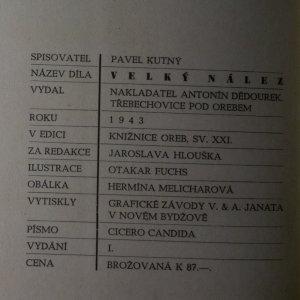 antikvární kniha Velký nález, 1943