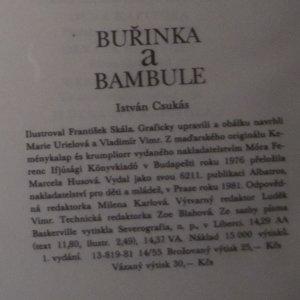 antikvární kniha Buřinka a bambule, 1981