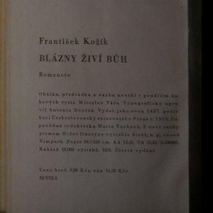 antikvární kniha Blázny živí Bůh, 1959