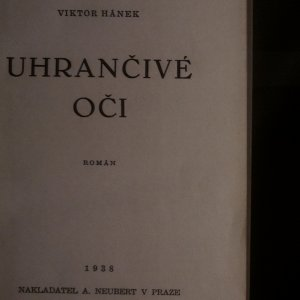 antikvární kniha Uhrančivé oči, 1938