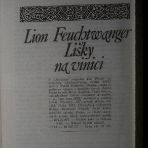 antikvární kniha Lišky na vinici, 1973
