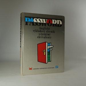 náhled knihy - Password. Anglický výkladový slovník s českými ekvivalenty
