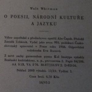 antikvární kniha O poesii, národní kultuře a jazyku, 1956