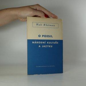 náhled knihy - O poesii, národní kultuře a jazyku
