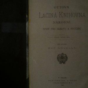antikvární kniha Dvě novelly, 1906