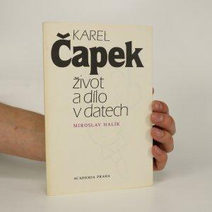 náhled knihy - Karel Čapek. Život a dílo v datech