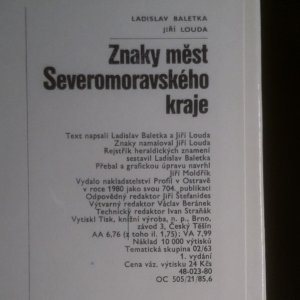 antikvární kniha Znaky měst Severomoravského kraje, 1980