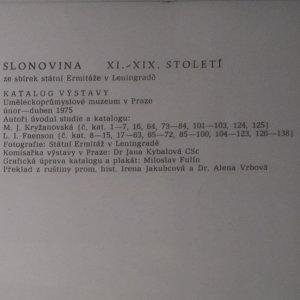 antikvární kniha Slonovina XI. - XIX. století. Ze sbírek státní Ermitáže v Leningradě, 1975