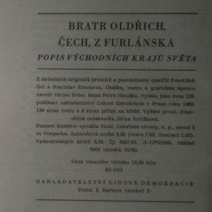 antikvární kniha Já bratr Oldřich Čech z Furlánska, 1962