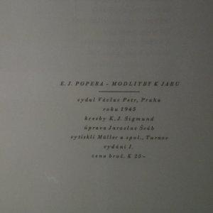 antikvární kniha Modlitby k jaru, 1945