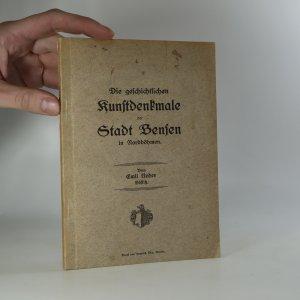 náhled knihy - Die geschichtlichen Kunstdenkmale der Stadt Bensen