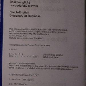 antikvární kniha Česko-anglický a anglicko-český hospodářský slovník (2 svazky), 2000