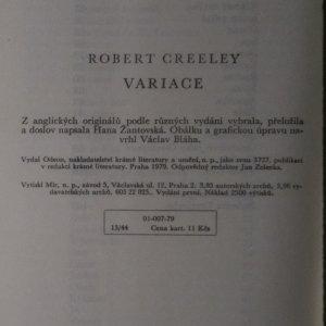 antikvární kniha Variace, 1979
