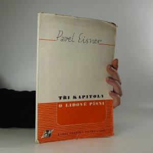 náhled knihy - Tři kapitoly o lidové písni