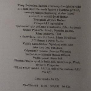 antikvární kniha Pamětní nápis Bernardu Ignácovi z Martinic, 1988
