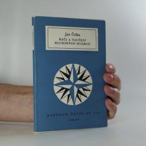 náhled knihy - Řeči a naučení hlubokých mudrců