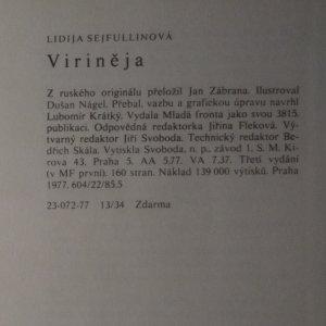antikvární kniha Viriněja, 1977