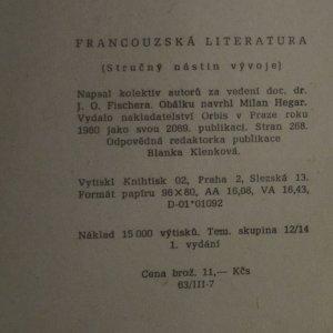 antikvární kniha Francouzská literatura , 1960