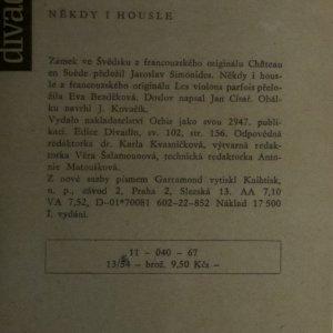 antikvární kniha Zámek ve Švédsku. Někdy i housle., 1967